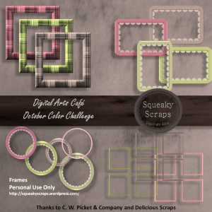 DAC October Color Challenge Frames