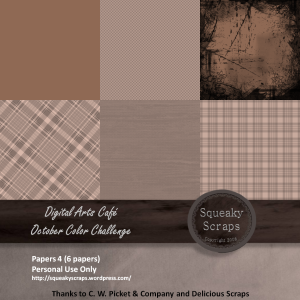 DAC October Color Challenge Papers 4